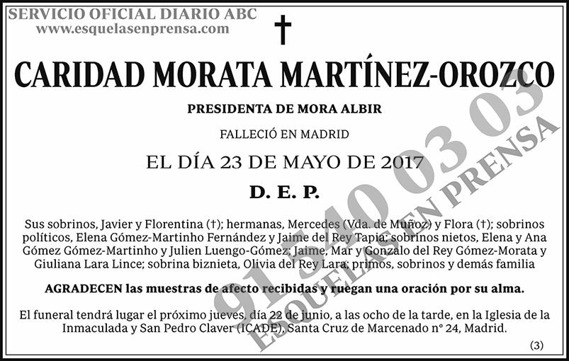 Caridad Morata Martínez-Orozco